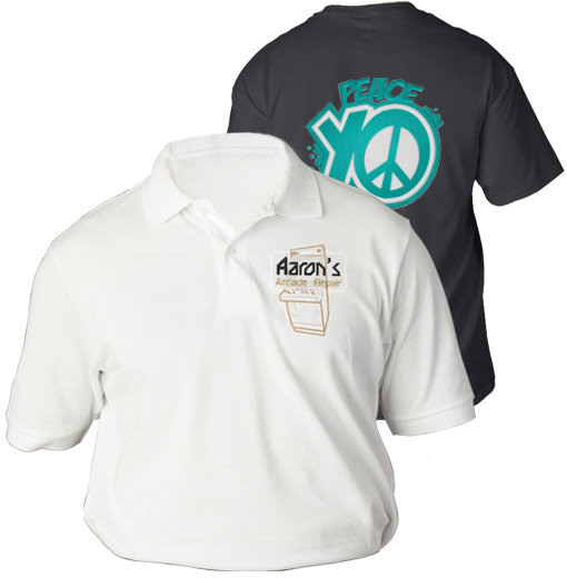 Custom embroidered shirts embroidery designs for Embroidered polo shirts miami