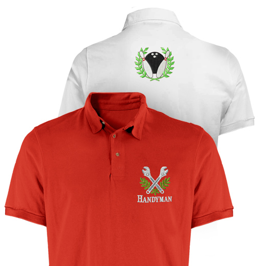 Custom embroidery shirts free embroidery patterns for Personalised embroidered polo shirts
