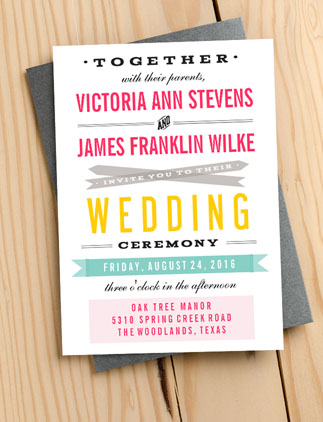 Typography <br />Wedding Invites