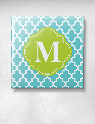 Browse the Monogram Magnets Collection and personalize by color, design, or style.