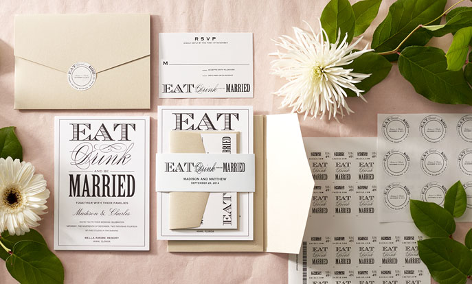 Browse the Wedding Invitations Collection and personalize by color, design, or style.