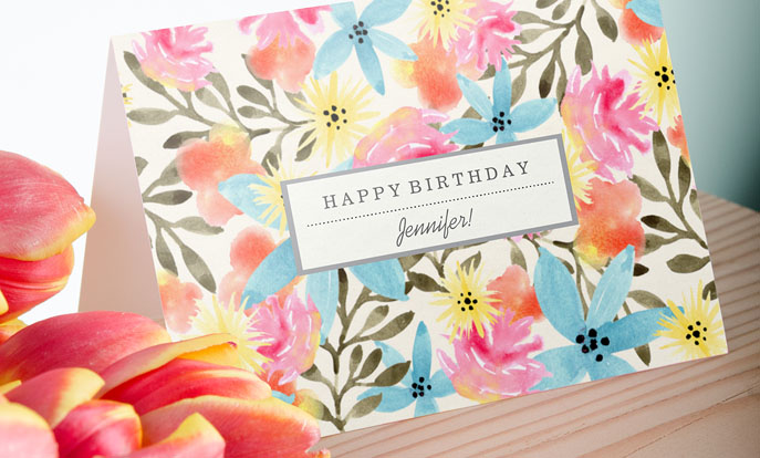 Create your very own Custom Birthday Cards and personalize by color, design, or style.