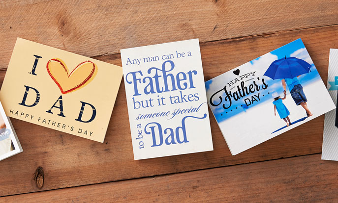 Personalise a Card for Dad