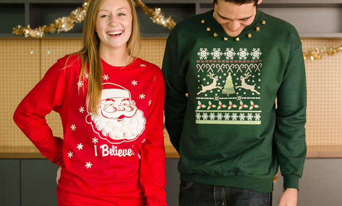Browse the Christmas T-Shirt Collection and personalize by colour, design, or style.