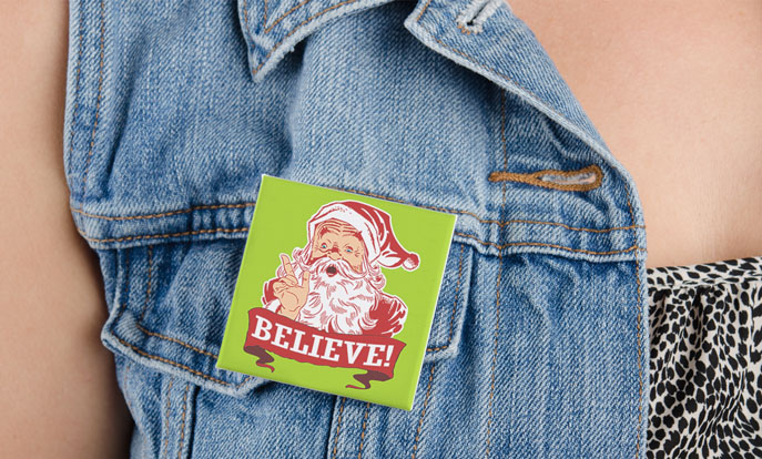 Funny Christmas Badges